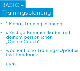 Online-Personal Training - BASIC