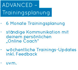 Online-Personal Training - ADVANCED