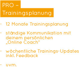 Online-Personal Training - PRO